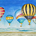 Hot Air Balloons Over Sandia by Michael Prout