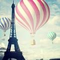 Hot Air Balloons In Paris by Marianna Mills