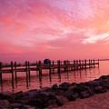 Hot Bay Sunset by Trish Tritz