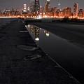 Chicago Hot City At Night by Bruno Passigatti