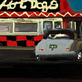 Hot Dogs And A Juke Box. by Julie Grimshaw