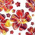 Hot Flowers Dancing Silhouettes by Irina Sztukowski