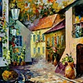 Hot Noon Original Oil Painting  by Leonid Afremov