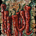 Hot Pepper Fresco by Lena  Owens OLena Art