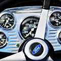 Hot Rod Ford Steering Wheel by Mike Martin