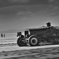Hot Rods At Pendine 14 by Phil Fitzsimmons