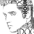 Hound Dog Elvis Wordart by Alice Gipson
