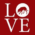 Hound Dog Love Red by Nancy Ingersoll
