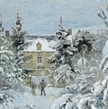 House At Montfoucault by Camille Pissarro