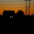 House At Sunset by Paul Kloschinsky