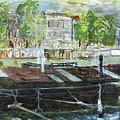 House Boat In Amsterdam by Joan De Bot