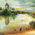 House By A Pond by Durer Albrecht
