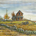 House By The Rock Wall by Samuel Showman