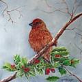 House Finch In Winter by Loretta Luglio