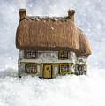 House In Snow by Amanda Elwell