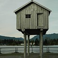 House On Stilts, Coal Harbour Vancouver by Helen Orth