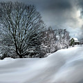 House On The Hill Winters In Vermont by Nancy Griswold