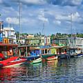 Houseboats - 3 - Lake Union - Seattle by Nikolyn McDonald