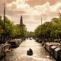 Houseboats - Amsterdam, Netherlands by Nico Trinkhaus