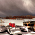 Houseboats In Winter by Brian Fisher