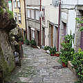 Houses Along Alley In The Old Town Of Porto by Artur Bogacki