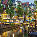 Houses Along Canal At Dusk by Panoramic Images