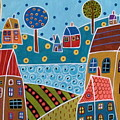 Houses And Trees By The Water by Karla Gerard
