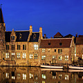 Houses By A Canal - Bruges, Belgium by Barry O Carroll