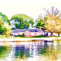 Houses By The Lake 1 by Jeelan Clark