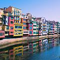 Houses In Girona Spain by Yulia Kazansky
