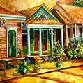 Houses In The Marigny by Diane Millsap