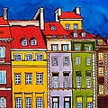Houses In The Oldtown Of Warsaw by Dora Hathazi Mendes