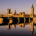 Houses Of Parliament With Westminster Bridge. by Nigel Dudson