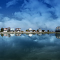 Houses Reflecting In The Bay by Tom Gari Gallery-Three-Photography