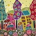 Houses Trees Flowers by Karla Gerard