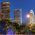 Houston Cityscape Skyline by Gregory Ballos