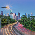 Houston Evening Cityscape by James Woody