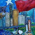 Houston Montage by Patti Schermerhorn