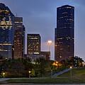 Houston Nighttime Skyline by Mike Harlan
