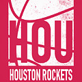 Houston Rockets City Poster Art by Joe Hamilton