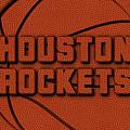 Houston Rockets Leather Art by Joe Hamilton