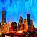 Houston Skyline 102 - Pa by Leonardo Digenio