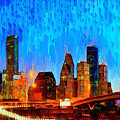Houston Skyline 110 - Pa by Leonardo Digenio