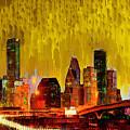 Houston Skyline 111 - Pa by Leonardo Digenio