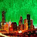 Houston Skyline 112 - Pa by Leonardo Digenio