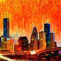 Houston Skyline 116 - Pa by Leonardo Digenio