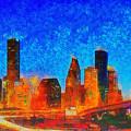Houston Skyline 130 - Pa by Leonardo Digenio