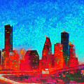 Houston Skyline 131 - Pa by Leonardo Digenio