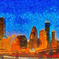 Houston Skyline 40 - Pa by Leonardo Digenio