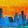 Houston Skyline 41 - Pa by Leonardo Digenio